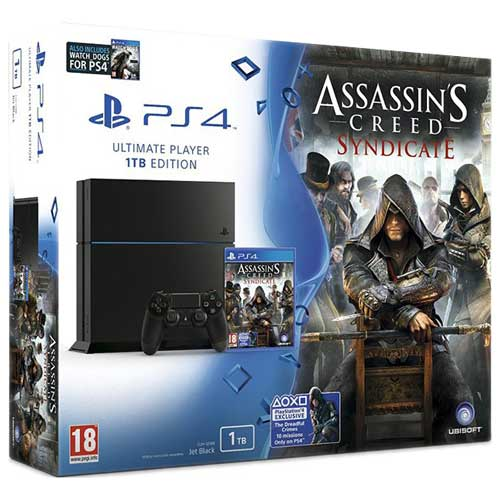 ps4 1tb assassins cyndicate watch dogs box